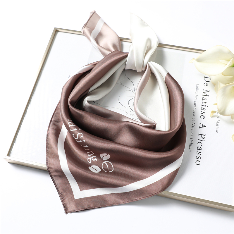 2020 Spring New Silk Scarf Women Small Square Bandana Lady Work Neck Scarves Fashion Head Scarfs Foulard Neckerchief Hijab
