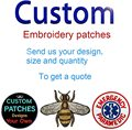 Custom Embroidery Patches Hook and Loop Decorative Stickers Iron on Sew on Embroidery Badges