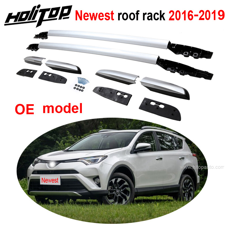 oe roof rack roof rail roof bar for toyota rav4 2016 2017 2018 2019 aviation aluminum alloy old seller 5years quality guarantee