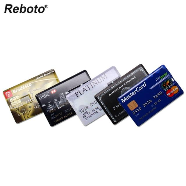 USB Flash Drive High Speed Bank Credit Card USB Flash Pen Drive 4GB 8GB 16GB Pendrive 32GB 64GB USB флэшка Memory Disk USB Stick 2