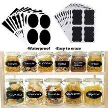 36 шт. водонепроницаемые наклейки для стеклянных бутылок этикетки домашние кухонные банки стикеры в стиле доски для рисования мелом этикетки бирки могут быть повторно использованы