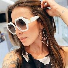 Feishini 2020 alta qualidade loja contadores vintage óculos de sol das mulheres designer marca luxo uv gradiente óculos de sol senhoras festival