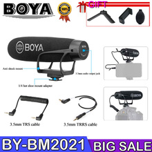 BOYA BY-BM2021 Microphone Super Cardioid shotgun video mic for DSLR Camera Canon Nikon Sony Panasonic Camcorder Smartphone цена в Москве и Питере
