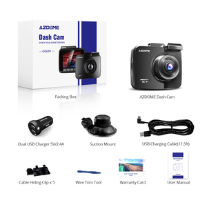 Image 5 - AZDOME GS63H 4K/2880*2160P WiFi Car DVRs Recorder Dash Cam Built in GPS WDR Night Vision Support Dual Cam Rear Back Camera
