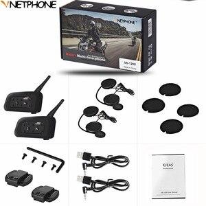 Image 5 - 2PCS Motorcycle Helmet Intercom Helmet For Motorcycle Helmet Interphone Motorcycle Intercom Headphones Wireless Intercomunicador