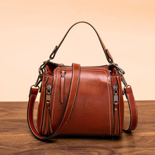 Shoulder Bag For Woman Messenger Bag 2020 Spring And Summer New Retro Wild Small Bag Bucket Bag Leather Designer Luxury Fashion fashion leather woman bag new girl small party bag casual shoulder bag fashion wide strap woman messenger bag free shipping