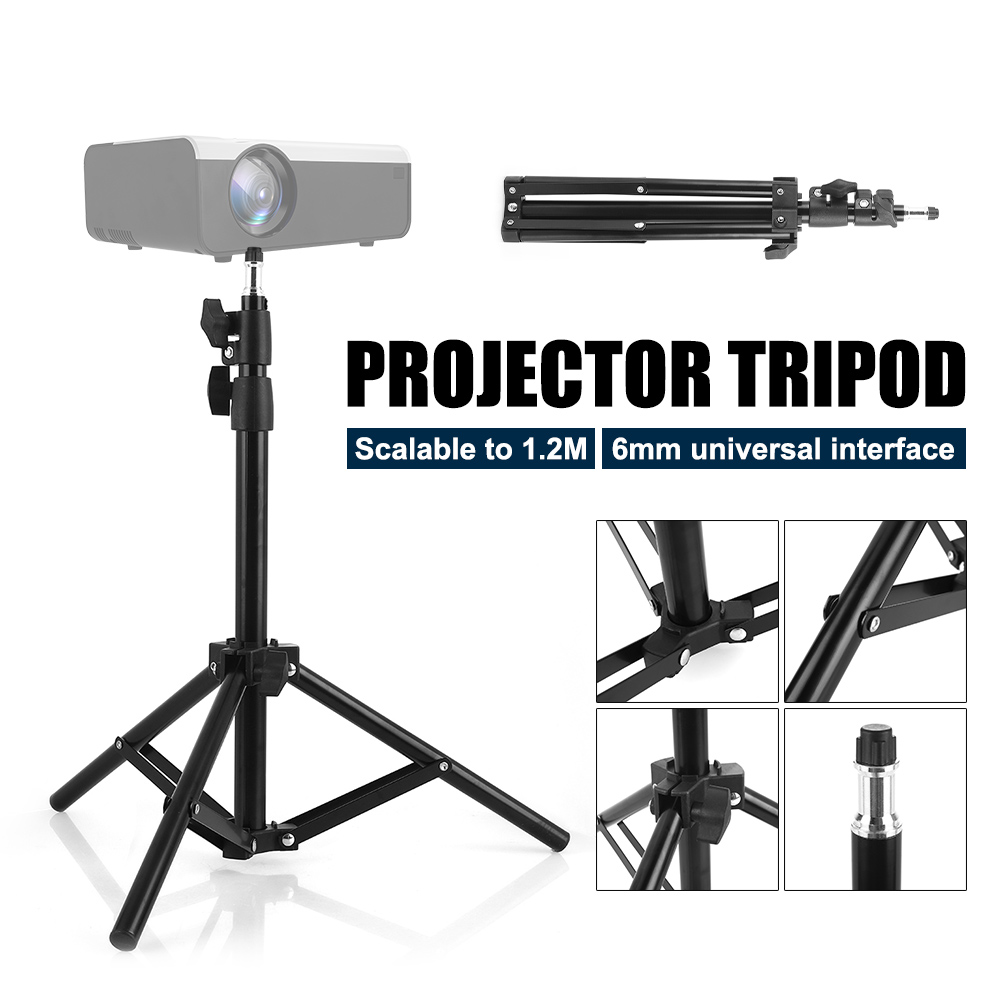 Universal Aluminum Alloy Home LCD Projector Tripod Mount Bracket Holder Stand 6mm interface Projection Accessory for CP600