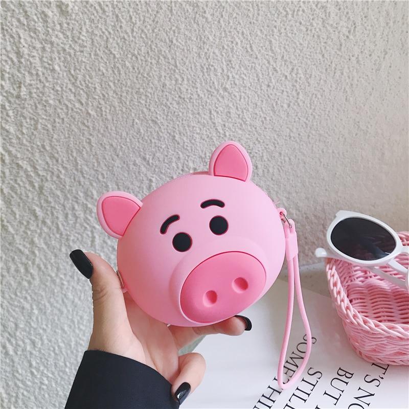 Q UNCLE Black Cat Coin Purse Silicone Pocket Women Handbags Zipper Luxury Girls Purse Coin Wallet Chain Crossbody Bag Mini Pouch