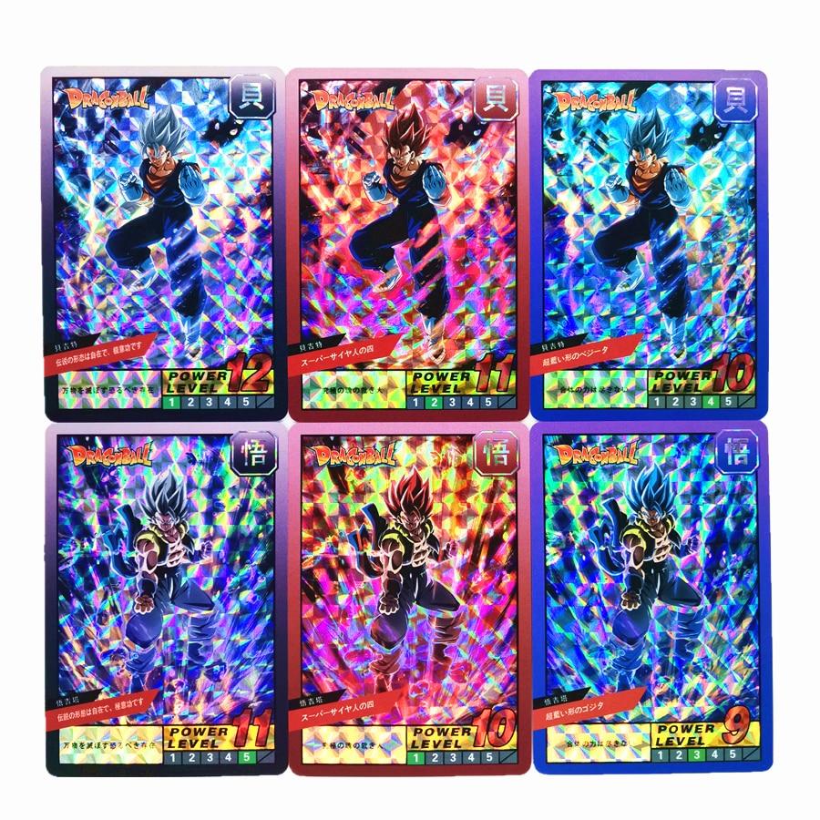 55pcs/set Super Saiyan Dragon Ball Z Heroes Battle Burst No.4 Card Ultra Instinct Goku Vegeta Game Collection Cards