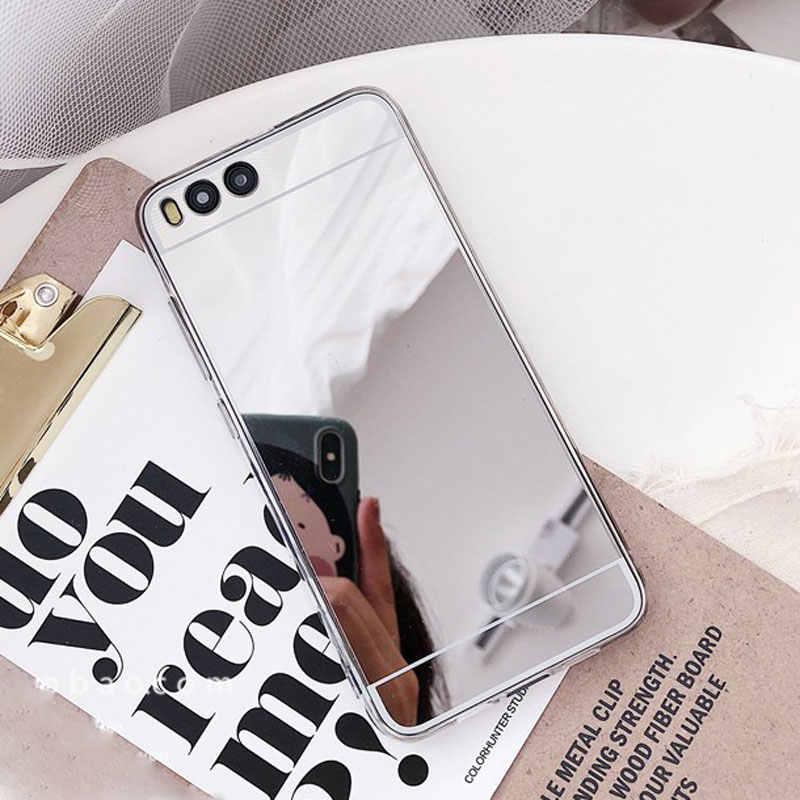 Étui miroir en Silicone de luxe pour Huawei P8 P9 P10 Lite Honor 4X 5A 5X 6A 6X 7 7X 8 9 Mate 7 8 9 10 Lite Nova 2i Plus coque arrière