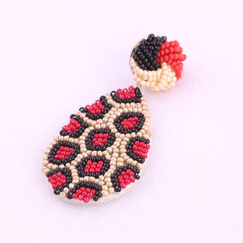Earrings for women boho drop earrings red oorbellen 5