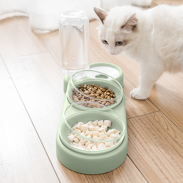 NEW Pet Dogs Cats Double Bowls Food Water Feeder Container Dispenser For Dogs Cats Drinking High Quality Pet Products 2