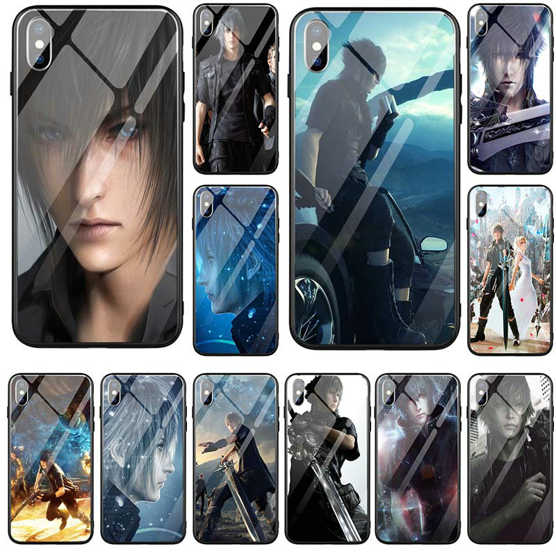 Hot Cloud Strife Final Fantasy Tempered Glass Mobile Phone Cases Cover for iPhone 5 5S SE