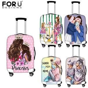 FORUDESIGNS/чехол для багажа с рисунком королевы из мультфильма для девочек и супермамы, аксессуары для путешествий, чемодан на колесиках, защитн...