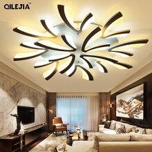 Luminária de teto led para sala de estar, para quarto, branco/preto, simples, luminárias de teto, iluminação para casa, AC90 260V