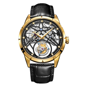 Luxury Skeleton Tourbillon Mechanical 42mm Mens Watch Sapphire Sport Tourbillon Business Watches For Men 2020 horloges mannen 1