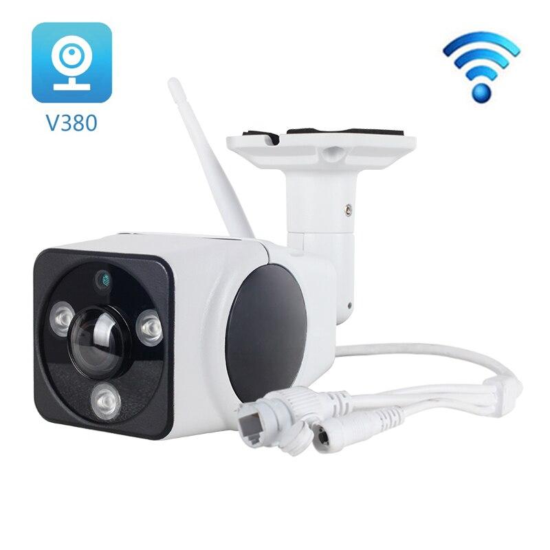 Caméra IP de sécurité Full HD 1080P sans fil WiFi extérieur étanche CCTV V380 Pro caméra IP 2MP avec haut-parleur Microphone