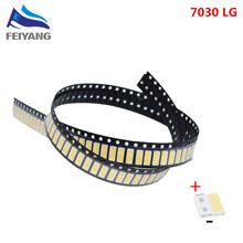 50 pces para lg innotek led luz de fundo 1w 7030 6v branco fresco aplicação smd 7030 led branco frio 100-110lm 7.0*3.0*0.8mm