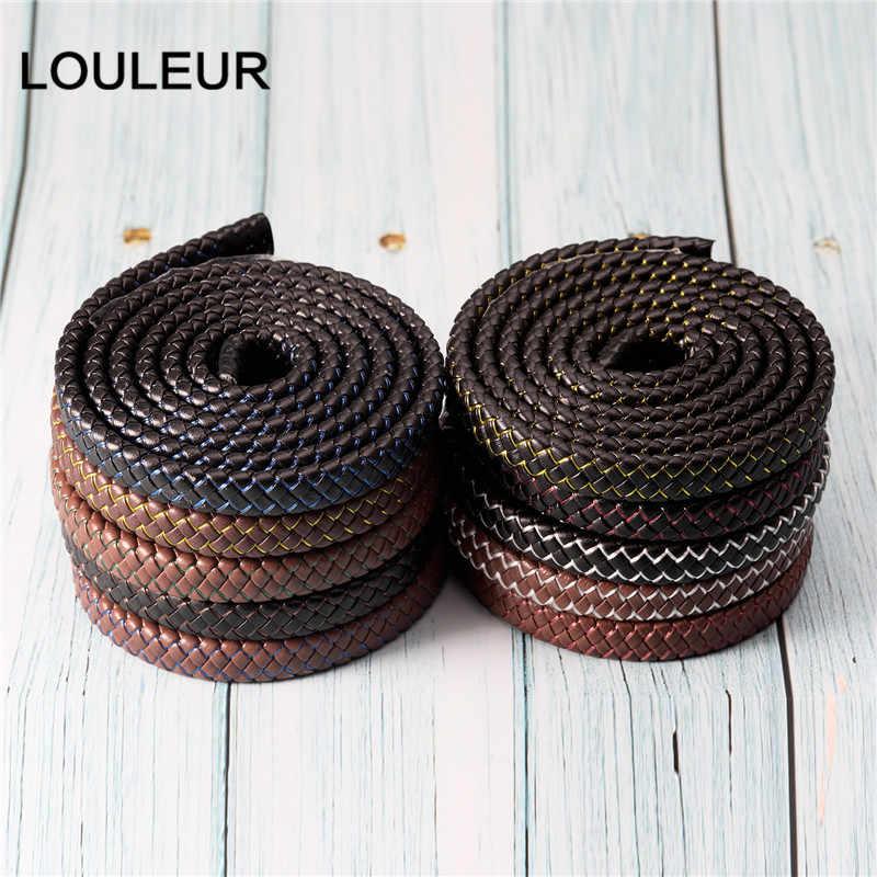 1 M 12X6 Mm Gevlochten Leer Rope Punk Gevlochten Lederen Koord Platte Gevlochten Koord Touw Accessoires Sieraden Bevindingen handgemaakte Cadeau