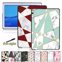 Funda de plástico duro para Huawei MediaPad T3 8,0, 8 pulgadas/T3 10 9,6 pulgadas/10 T5 10,1 pulgadas, carcasa anticaída para tableta con patrón de forma