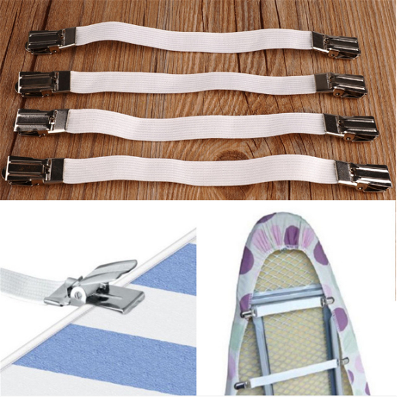 4Pcs Ironing Board Cover Table Cloths Buckle Holder Sofa Clip Fasteners Brace Bed Sheet Grips Buckle Furniture Accessories
