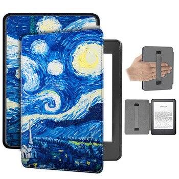 Чехол-книжка из искусственной кожи для Amazon, новинка, Kindle, для 2019, Kindle Touch, чехол 10-го поколения, Магнитный чехол с держателем для рук