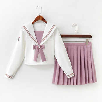 Japanese School Uniform Anime Women/girl Super Kawaii Sailor Suit Tops+tie+skirt Sexy Student Cos Set Autumn Support Wholesale - DISCOUNT ITEM  30% OFF All Category