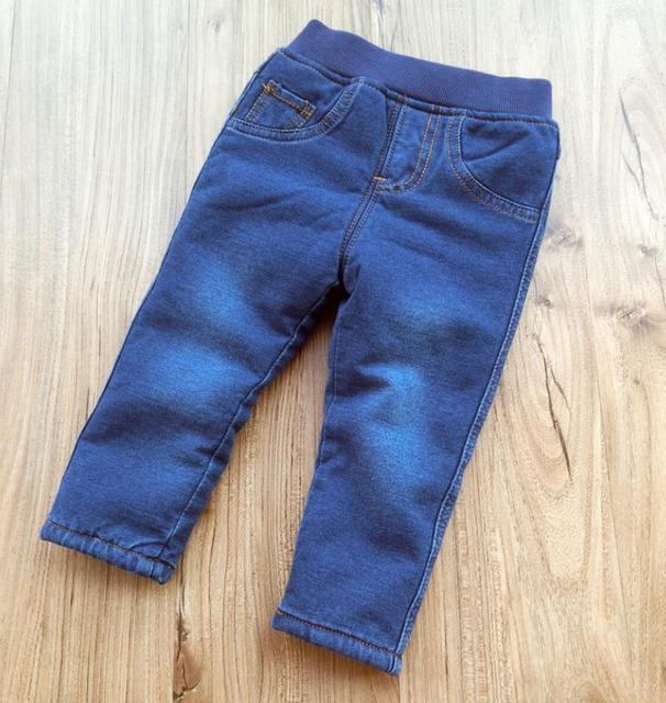 Baby Boys Clothing High Quality Thicken Winter Warm Cashmere Jeans  3