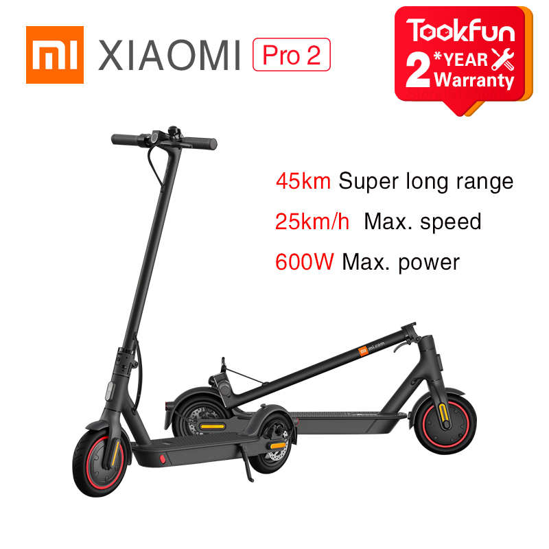Xiaomi Mi Electric Scooter m365 Pro2 e scoote Smart Mijia APP Control E-ABS Safety Brake Adult Foldable 600W 25km\h 45KM 446Wh