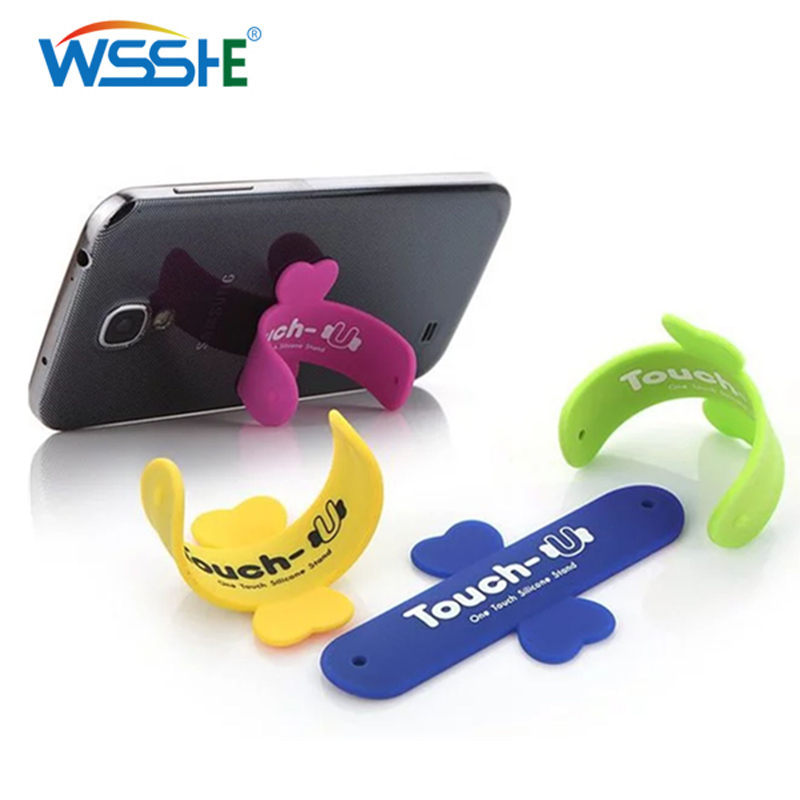 12 Colors Desk Phone Stand U Shaped Silicone Universal Phone Holder Support For Smartphone Tablet PC Mobile Stand Easy Bracket