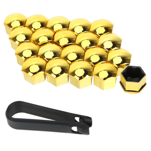 Image 2 - LEEPEE Tapas de tuercas de rueda de coche, 20 piezas, tornillos, tapón de tornillo de tapacubos para automóvil, protección, 17mm, decoración Exterior de estilismo para automóvil