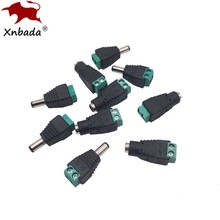 DC Stecker 5,5mm x 2,1mm Jack Buchse Männlich und Weiblich LED Adapter Für CCTV Power Konvertieren LED Streifen licht Verbindung