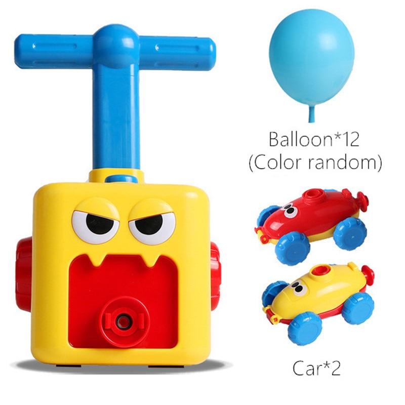Children's Inertia Air Balloon Power Car Toy Press Power Balloon Car Educational Kindergarten Teaching Aids