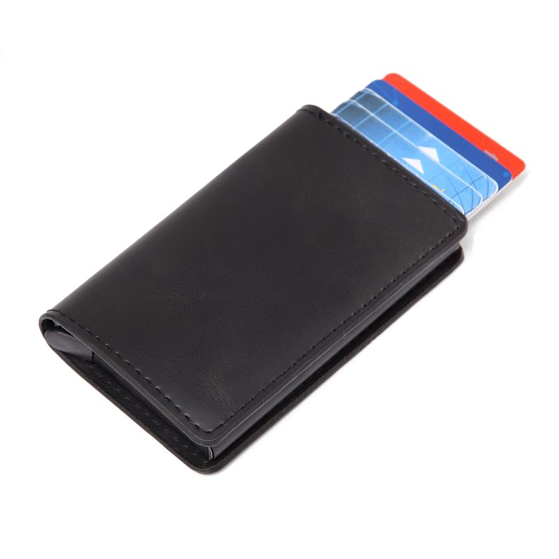 Rfid Card Holder Men Wallets Money Bag Male Vintage Black Short Purse 2019 Small Leather Slim Wallets Mini Wallets