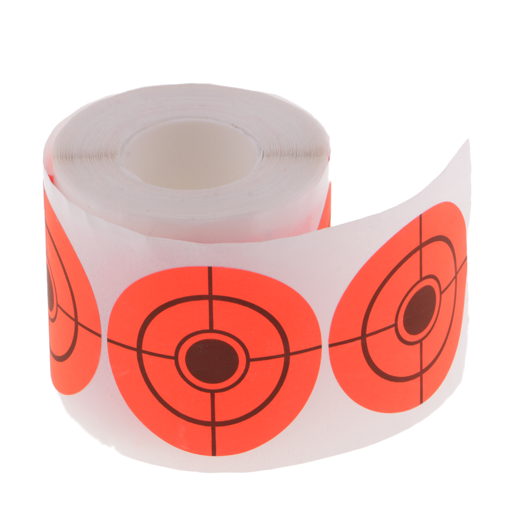 250pcs Target Paper Round Adhesive Target Roll For Archery Shooting Hunting