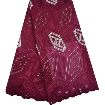 Latest French Nigerian Lace Fabric High Quality Embroidered Tulle African Heavy Beaded For Wedding