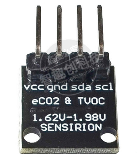 SGP30 Gas Sensor Module TVOC/eCO2 Air Quality Formaldehyde Carbon Dioxide Measurement I2C