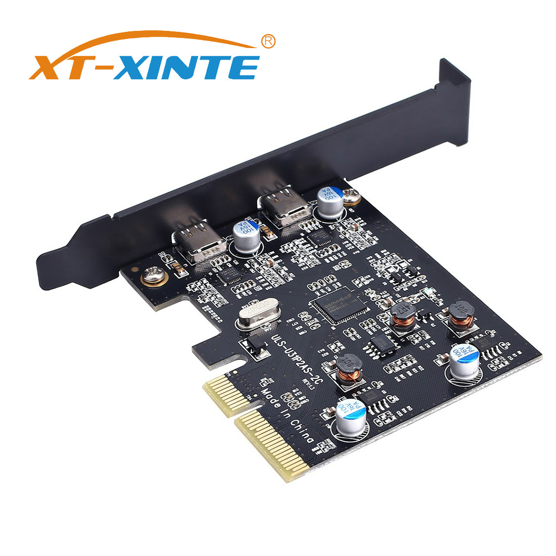 XT-XINTE Add On Cards USB 3.1 Dual 10Gbps 2x Type-C Port PCI Express  Controller Riser Card Expansion Adapter For Mac Pro Window