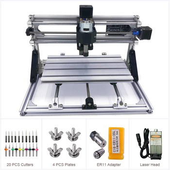 Desktop 2418 GRBL Control DIY Mini Wood CNC Machine Working Area 240x180x40mm Milling Router with Laser Function Optional