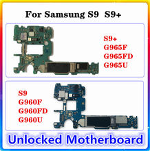 Placa base Original limpia para Samsung Galaxy S9 PLUS, G965F, G965U, G965FD, S9, G960F, G960FD, G960U, placa base con Chip