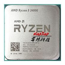 Amd ryzen 5 3400g r5 3400g 3.7 ghz 쿼드 코어 8 스레드 65 w cpu 프로세서 yd3400c5m4mfh 소켓 am4