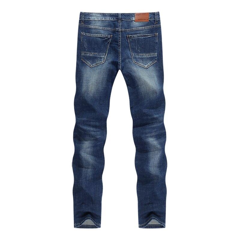 KSTUN Men's Jeans Classic Direct Stretch Dark Blue Business Casual Denim Pants Slim Straight Long Trousers Gentleman Cowboys 38 12