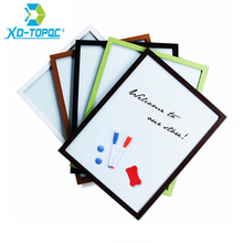 A3 Whiteboard Wood Frame Magnetic 30*40cm Smooth Wooden Bulletin Message Dry Erase White Board Writing Board Free Accessories