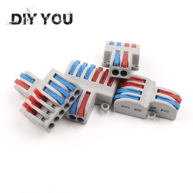 5/10pcs/Lot SPL-42/62 Mini Fast Wire Connector Universal Wiring Cable Connector Push-in Conductor Terminal Block DIY YOU 6