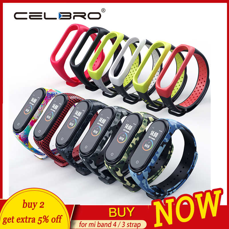 Voor Mi Band 4 Band Armband Voor Xiaomi Mi Band 4 3 Band Bandjes Correa Camo Voor Miband 4 Band4 miband4 Pulseira Camouflage Tpu