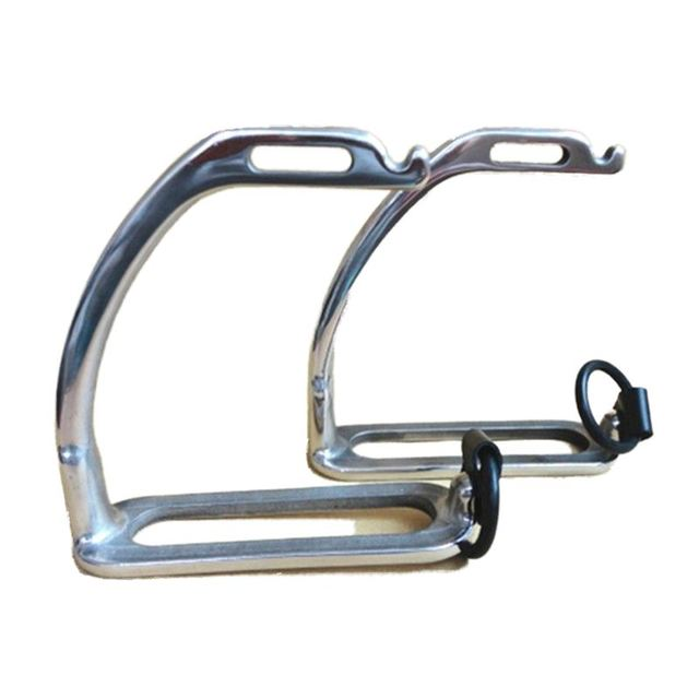 Stainless Steel Peacock Stirrup With Rubber Ring And Leather Strap Horse Stirrup Without Pad Horse Equipment - Free Shipping 1