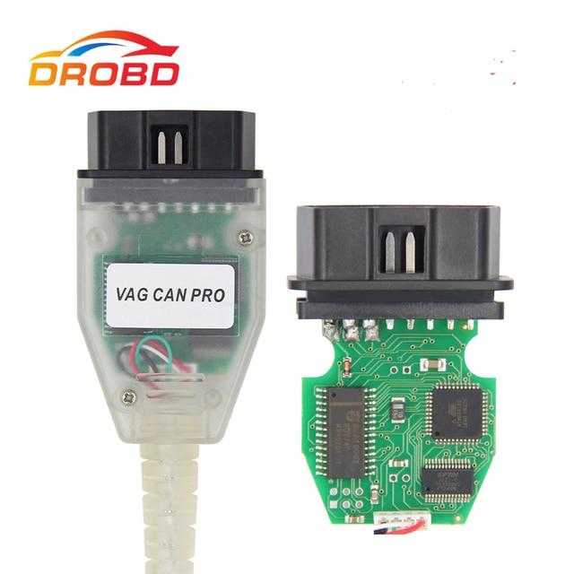 VAG CAN PRO V5.5.1 FTDI FT245RL çip VCP OBD2 tarayıcı teşhis USB arayüzü desteği Can Bus UDS K hattı çalışır AUDI/VW için