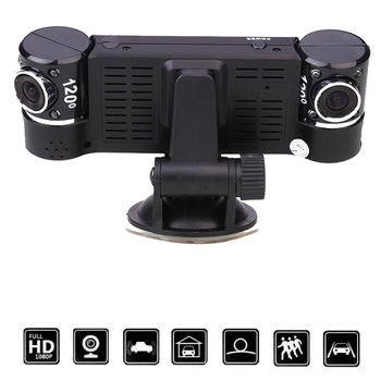 DVR F600 Rotate 120 degree Car Digital Video Recorder Dual Lens 16:9 HD Display Camcorder 2.7''
