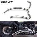 Для Yamaha V Star Dragstar 1100 XVS1100 мотоцикл ошеломленная выхлопная труба перегородка в сборе со съемным глушителем хром