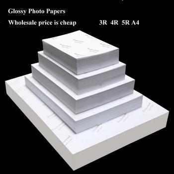 Hurtownie papier fotograficzny 4R 5R A4 100 arkuszy wysoki połysk drukarki fotograficzne drukowanie na papierze do drukarki atramentowe materiały biurowe tanie i dobre opinie 51-100 arkuszy pakiet Inne Bezpieczne Opakowanie 200g 4A 4R 5R 3R